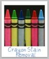 crayon stain removal