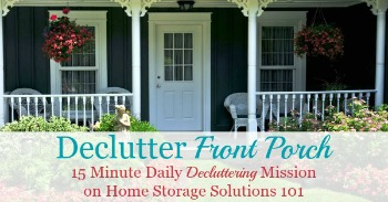 How to declutter your porch