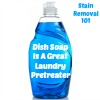 dish soap as pretreater