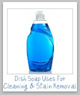 dish soap uses for cleaning and stain removal