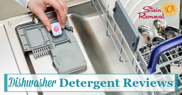 Here is a round up of reviews of over 15 different brands and varieties of dishwasher detergents, including powder, liquid and pacs, to help you find out which products work best, and which should stay on the store shelf {on Stain Removal 101}