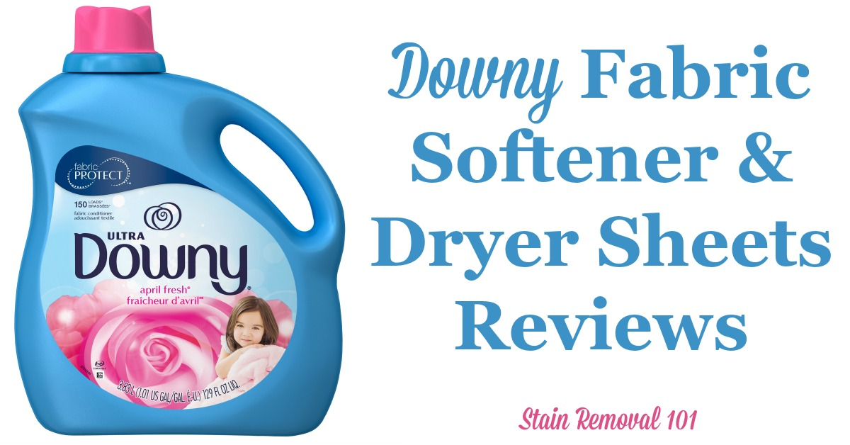 Here is a comprehensive guide about Downy fabric softener and dryer sheets, including reviews and ratings of this brand of laundry supply, including many different scents and varieties {on Stain Removal 101}