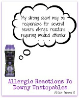 downy unstopables causes allergic reactions