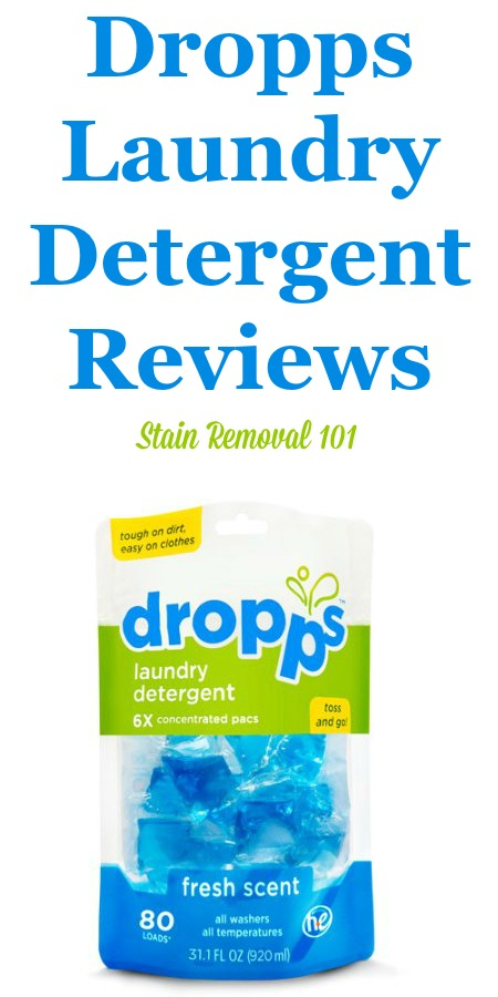 Here is a comprehensive guide about Dropps laundry detergent, including reviews and ratings of this brand of laundry supply, including the different scents and varieties {on Stain Removal 101}