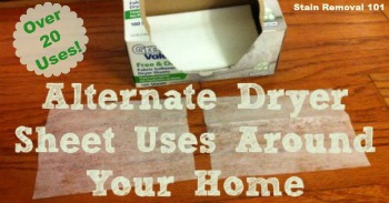 alternate dryer sheet uses around your home
