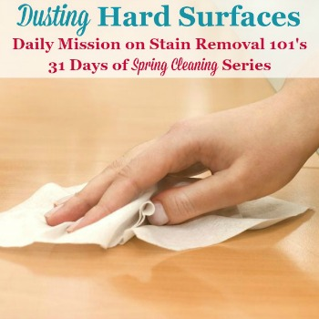 dusting hard surfaces