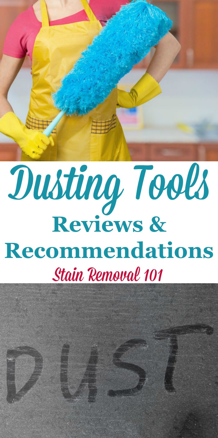 Here are reviews and recommendations for various types of dusting tools and products to keep your home clean and dust free {on Stain Removal 101} #CleaningTips #CleaningTools #CleaningEquipment