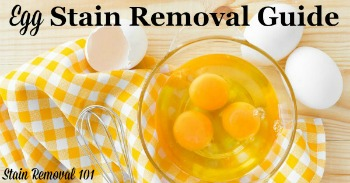 Egg stain removal guide