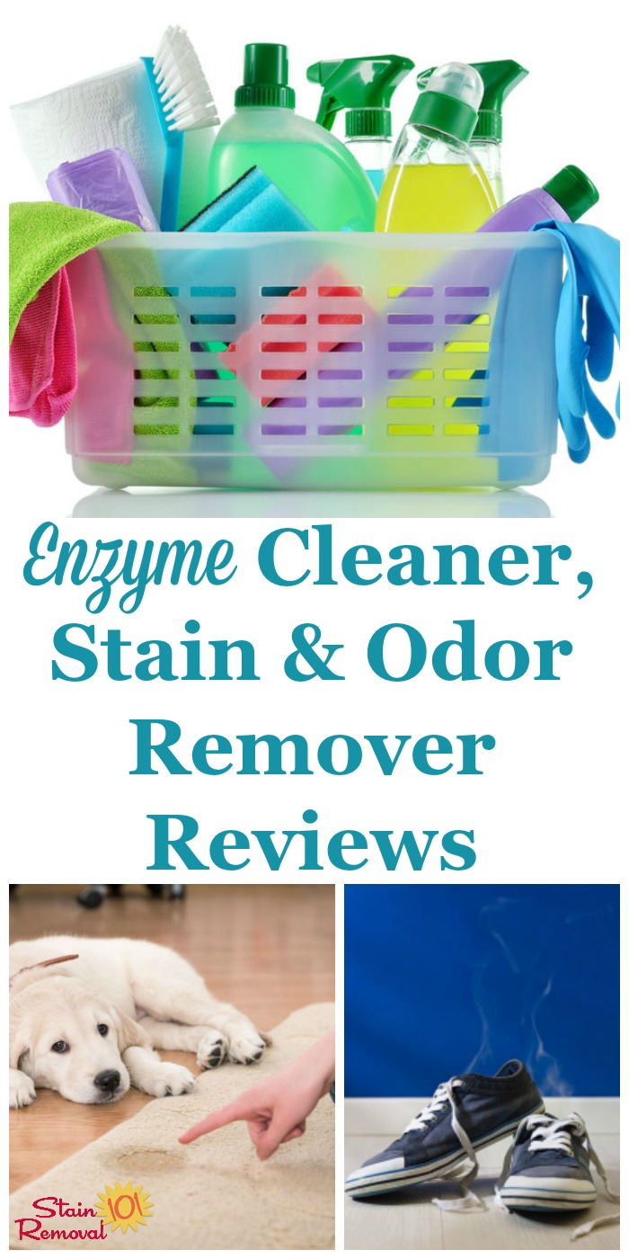 Here is a round up of enzyme cleaner reviews, plus reviews of stain and odor removers that use enzymes as their active ingredient, to find out which products work best, and which should stay on the store shelf {on Stain Removal 101}