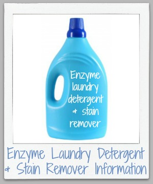 How enzyme laundry detergent and stain removers work to remove stains and get clothes clean, plus instructions for how to use them properly and effectively. {on Stain Removal 101}