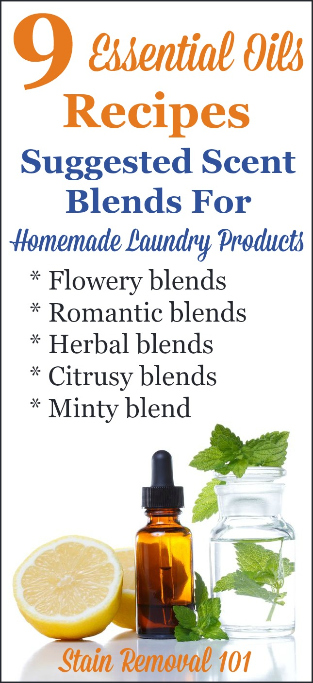 Essential oils recipes for homemade laundry supplies - Homemade scent recipes ...