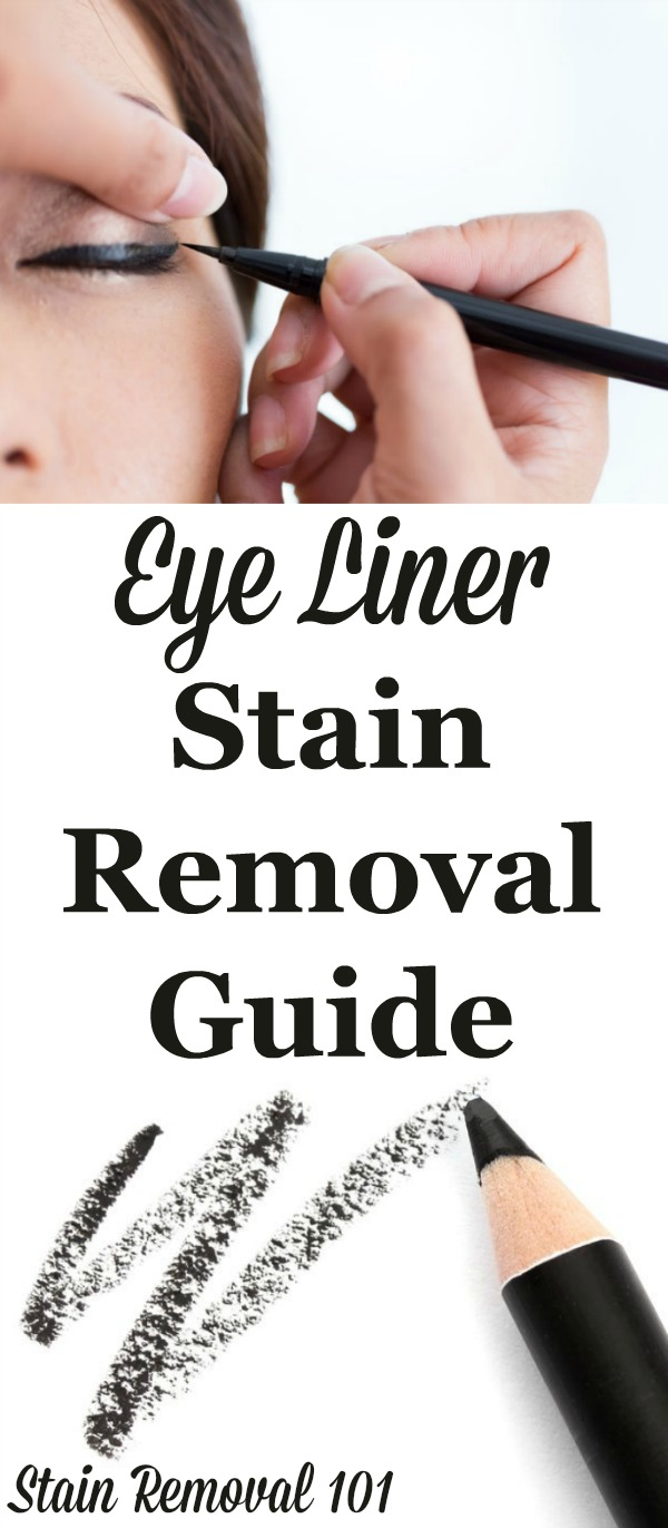 Step by step eye liner stain removal guide for clothing, upholstery and carpet {on Stain Removal 101}
