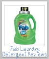 fab laundry detergent reviews