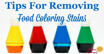 Tips for removing food coloring stains