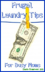 frugal laundry tips for busy moms