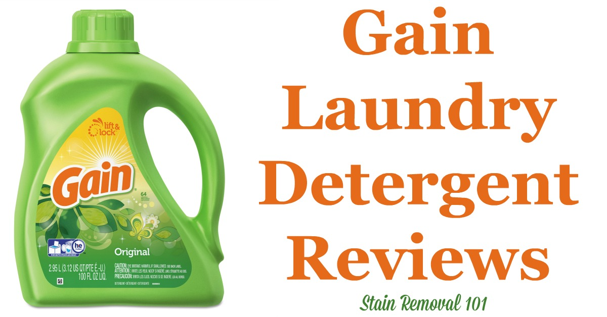Here is a comprehensive guide about Gain laundry detergent, including reviews and ratings of this brand of laundry supply, including different scents and varieties {on Stain Removal 101}