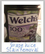 grape juice stain