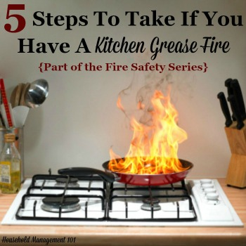 5 steps to take if you have a kitchen grease fire