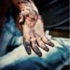 greasy hand