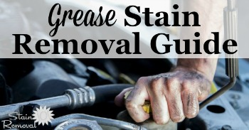 Grease stain removal guide