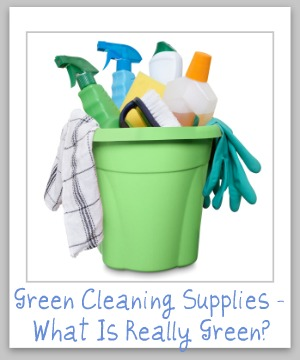 Criteria for evaluating 'green cleaning supplies' to determine if they're really eco-friendly, or merely green washed {on Stain Removal 101}