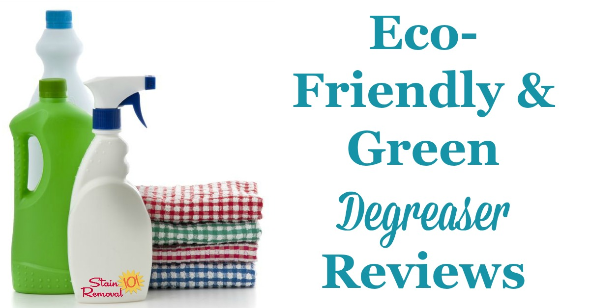 Here is a round up of eco-friendly and green degreaser reviews for use in and around your home. Find out which ones work best or share your own opinions {on Stain Removal 101}