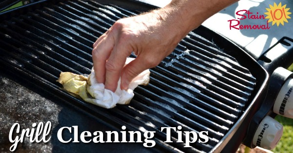 Here is a round up of barbecue grill cleaning tips to make it easier for you and your family to grill out {on Stain Removal 101}