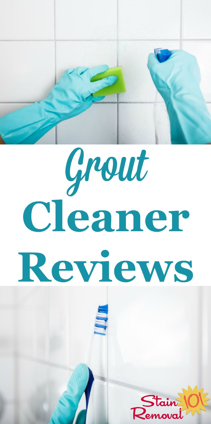 Here is a round up of grout cleaners reviews, including both specialty products and general cleaners, to find out which products are the best grout cleaner for general grime, as well as for cleaning mold and mildew {on Stain Removal 101}