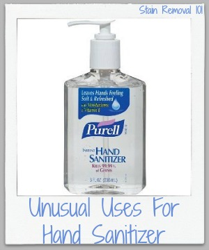 unusual uses for hand sanitizer