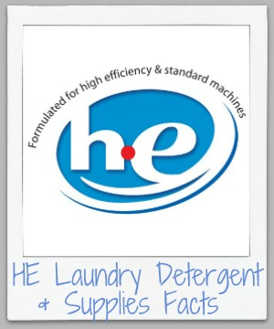 Fact sheet about HE laundry detergent, including whether you can use regular or homemade detergent in an HE machine {on Stain Removal 101}