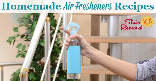 Here is a round up of homemade air fresheners recipes so that you can remove odors and add nice scents to your home using items you probably already own {on Stain Removal 101}