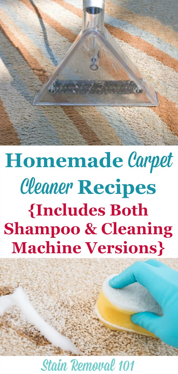 Homemade Carpet Cleaner And Homemade Carpet Shampoo Recipes