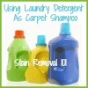 make homemade carpet shampoo with laundry detergent