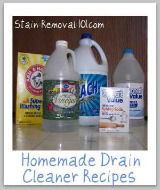 homemade drain cleaner recipe