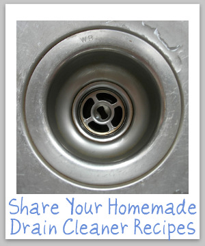 homemade drain cleaners