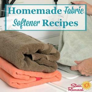 homemade fabric softener recipes