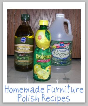 Homemade furniture polish recipes for Homemade organic furniture polish