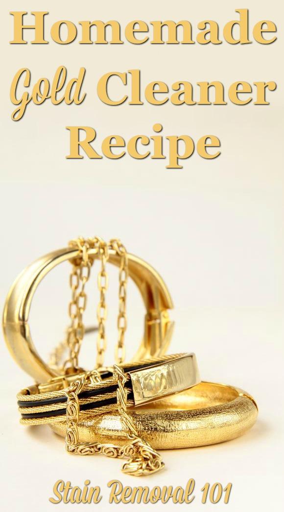 Homemade Gold Cleaner Recipe