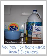 homemade grout cleaners ingredients