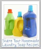homemade laundry soap recipes