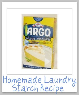 Homemade laundry starch recipe for Starch on dress shirts