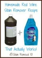 homemade red wine stain remover remover recipe