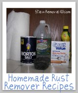 homemade rust remover ingredients