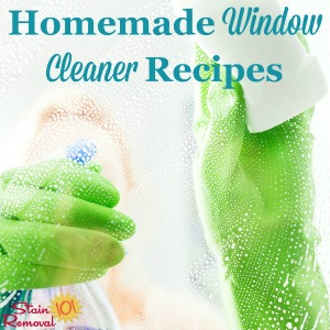 homemade window cleaner recipe