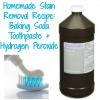 homemade yellowing stain removal recipe ingredients