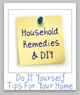 household remedies and DIY tips