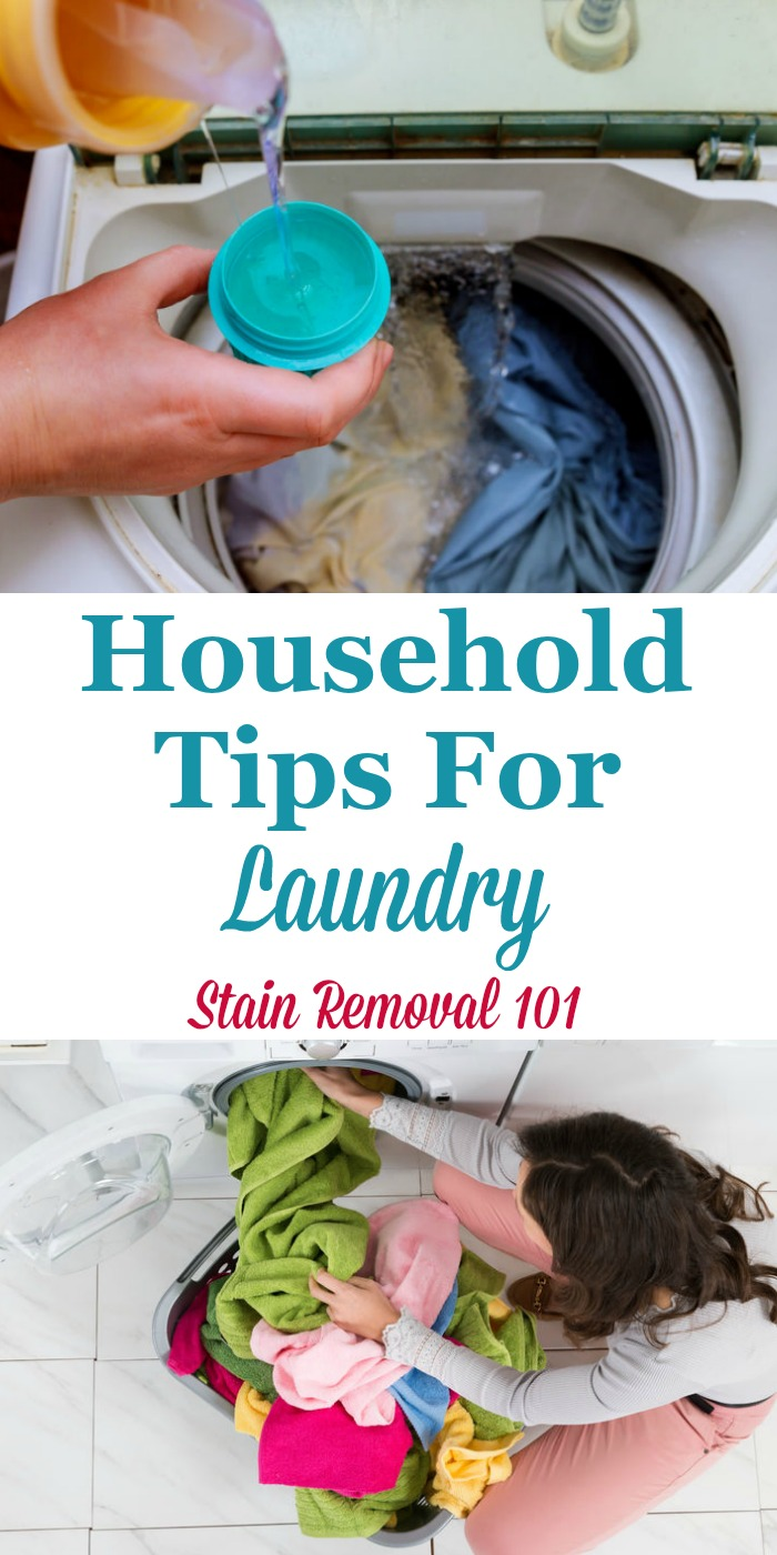 Here is a round up of practical household tips for laundry as shared by readers of this site, for how they get their laundry clean and done, without as much hassle and effort {on Stain Removal 101} #LaundryTips #LaundryHints #Laundry