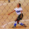 playing softball