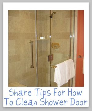 how to clean shower door