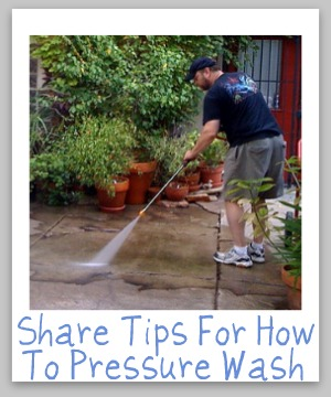 how to pressure wash